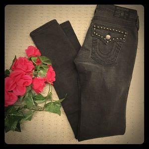 True Religion Julie studded skinny jeans LIKE NEW